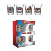Set 4 pahare shot - Justice League Shotglass 4-Pack Characters