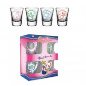 Set 4 pahare shot - Sailor Moon Characters