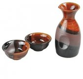 Set cadou oriental - Sake Japanese Sake Brown and Black Set