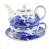 Set ceai - Blue Willow Tea For One
