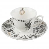 Set ceasca espresso cu farfurioara - V and A Alice In Wonderland