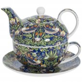 Set de ceai pentru o persoana - Blue Strawberry Thief Tea For One