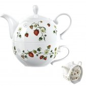 Set pentru ceai din portelan - Kew Strawberry Fayre Tea For One