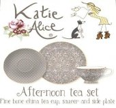 Set pentru pranz - KA Afternoon Tea Set  Grey Ditsy Floral