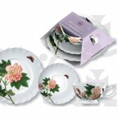 Set pentru pranz - Kew Purple Butterfly Afternoon Tea Plate Cup and Side Plate
