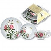Set pentru pranz - Kew White Butterfly Afternoon Tea Plate Cup and Side Plate