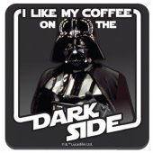 Coaster- Star Wars Coffee on the Dark Side Coaster