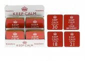 Suport pahar- Keep Calm Happy Birthday Coaster