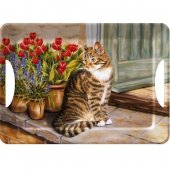 Tava - Cottage Cat Tray Lux Handles Large