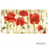 Tava - Field Poppies Small Tray Lux Handles