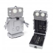 Tool set Robot with light silver 3xAAA