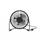 Ventilator negru USB - Metal Desk Fan